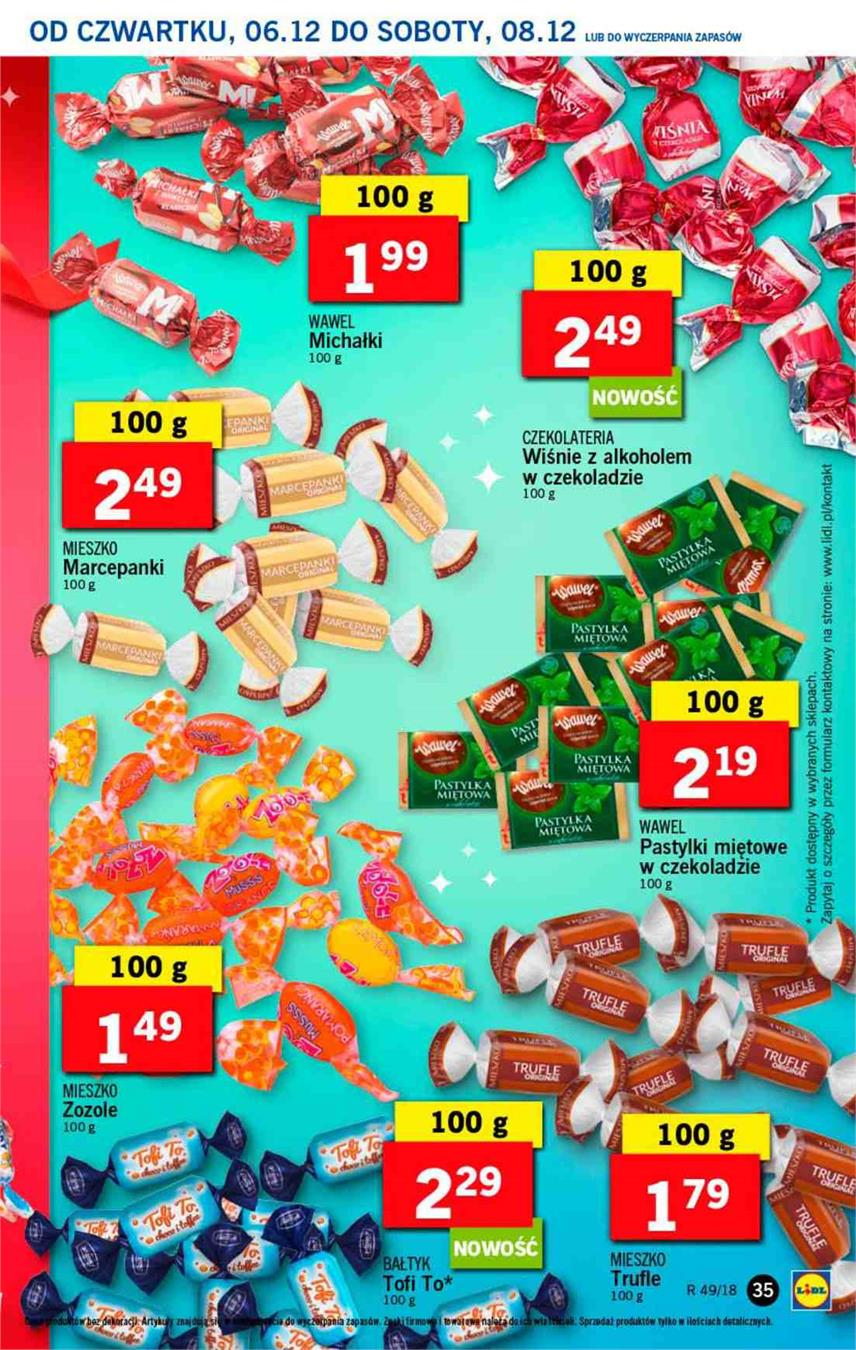 Gazetka Lidl Polska Sp. z o.o. nr 35 od 2018-12-06 do 2018-12-08