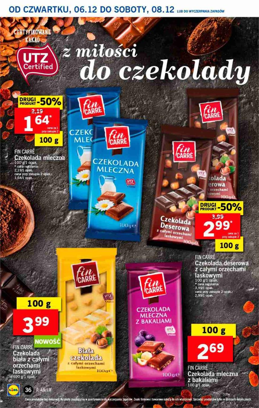 Gazetka Lidl Polska Sp. z o.o. nr 36 od 2018-12-06 do 2018-12-08