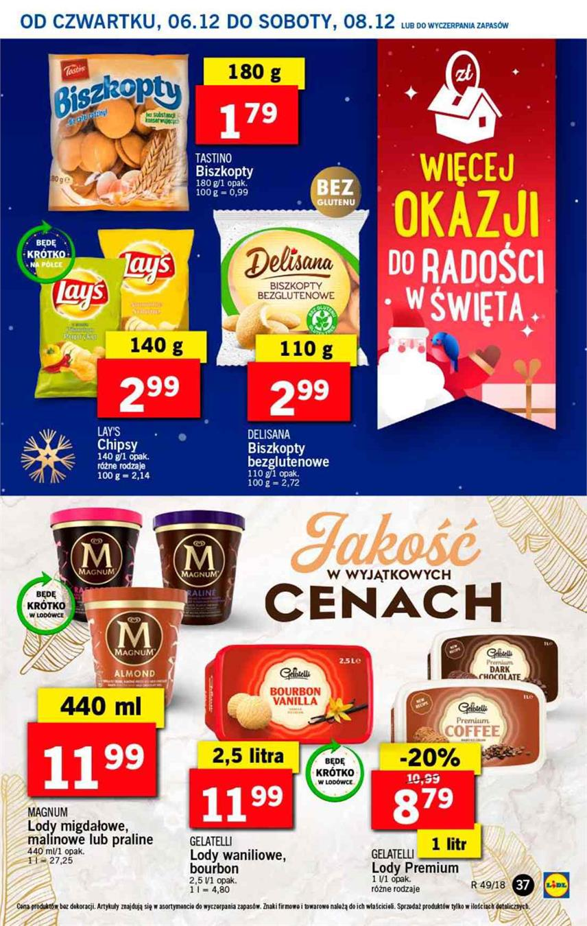 Gazetka Lidl Polska Sp. z o.o. nr 37 od 2018-12-06 do 2018-12-08