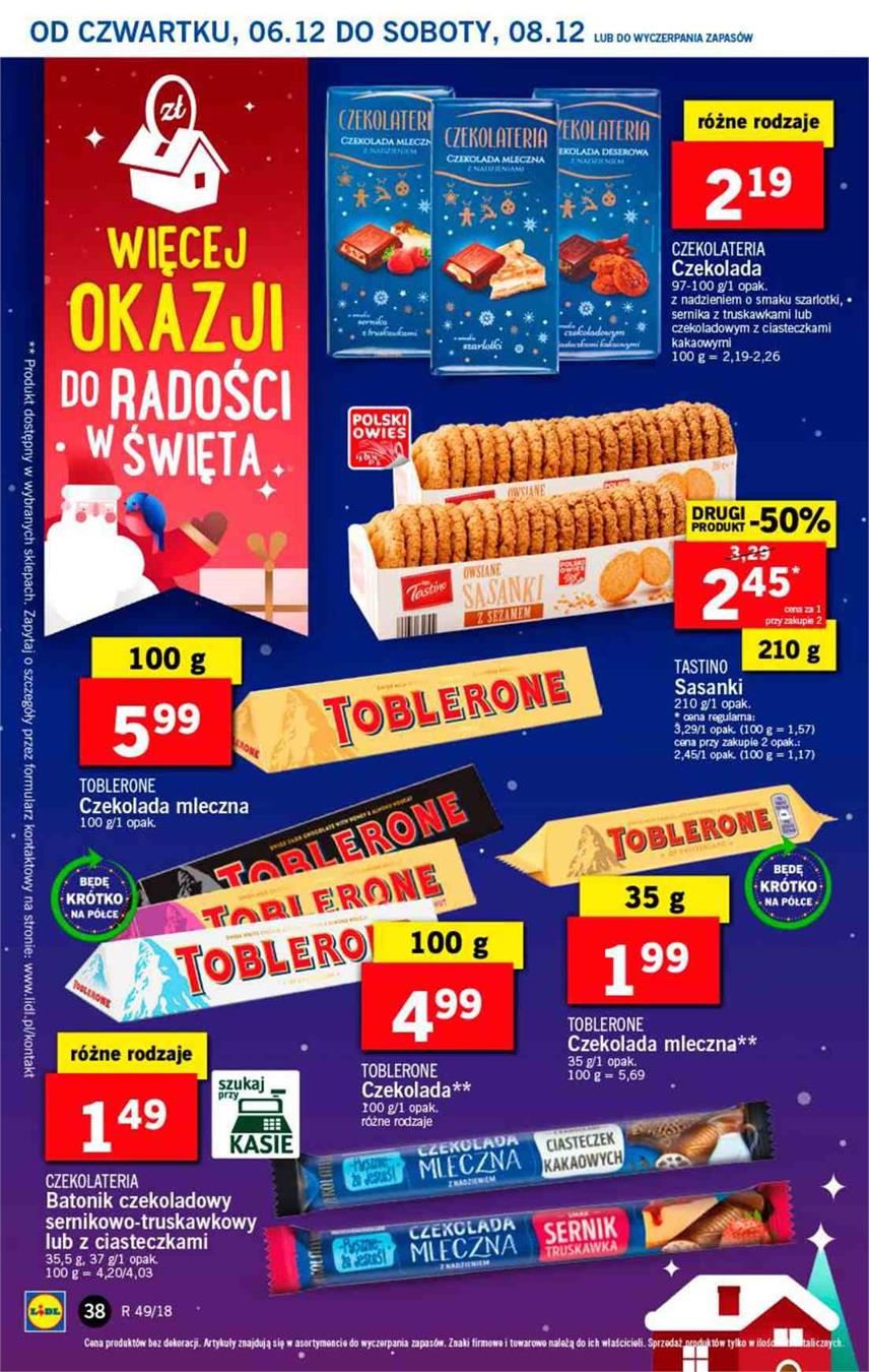 Gazetka Lidl Polska Sp. z o.o. nr 38 od 2018-12-06 do 2018-12-08