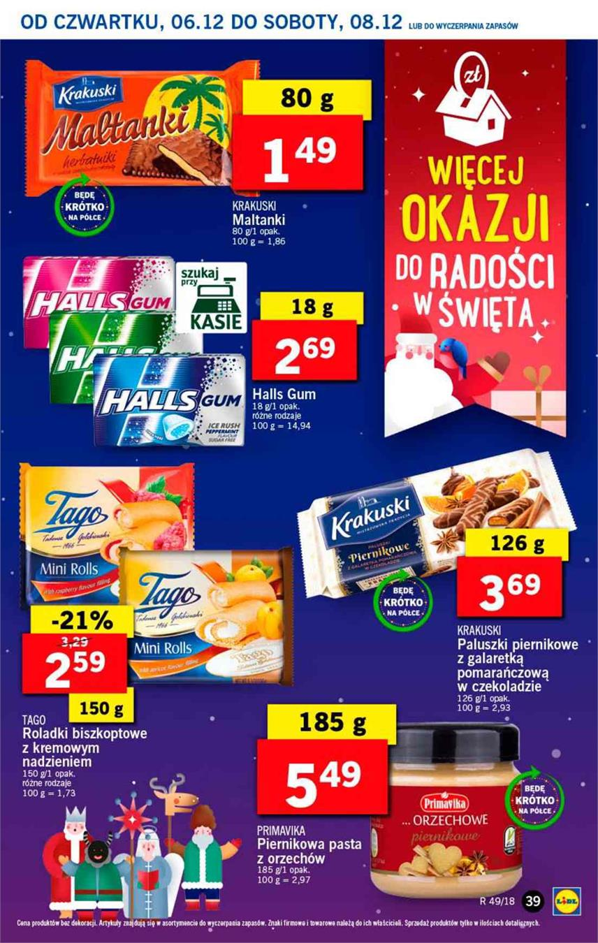Gazetka Lidl Polska Sp. z o.o. nr 39 od 2018-12-06 do 2018-12-08