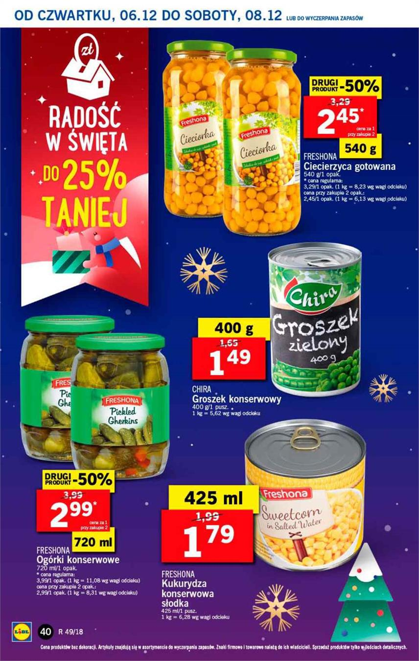 Gazetka Lidl Polska Sp. z o.o. nr 40 od 2018-12-06 do 2018-12-08