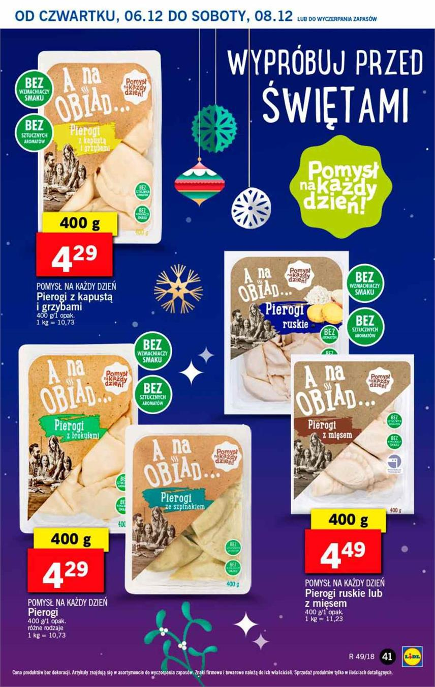 Gazetka Lidl Polska Sp. z o.o. nr 41 od 2018-12-06 do 2018-12-08