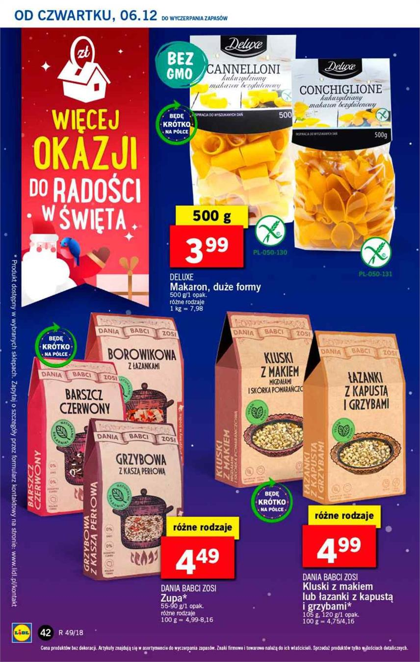 Gazetka Lidl Polska Sp. z o.o. nr 42 od 2018-12-06 do 2018-12-08