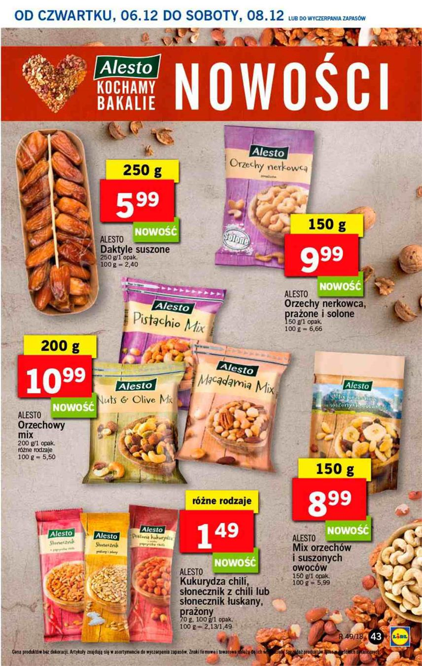 Gazetka Lidl Polska Sp. z o.o. nr 43 od 2018-12-06 do 2018-12-08
