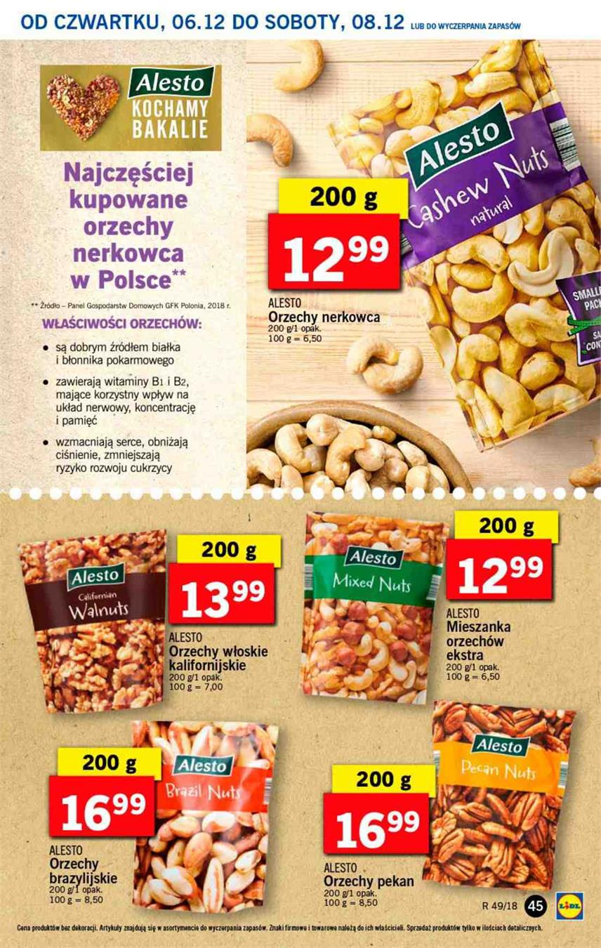 Gazetka Lidl Polska Sp. z o.o. nr 45 od 2018-12-06 do 2018-12-08