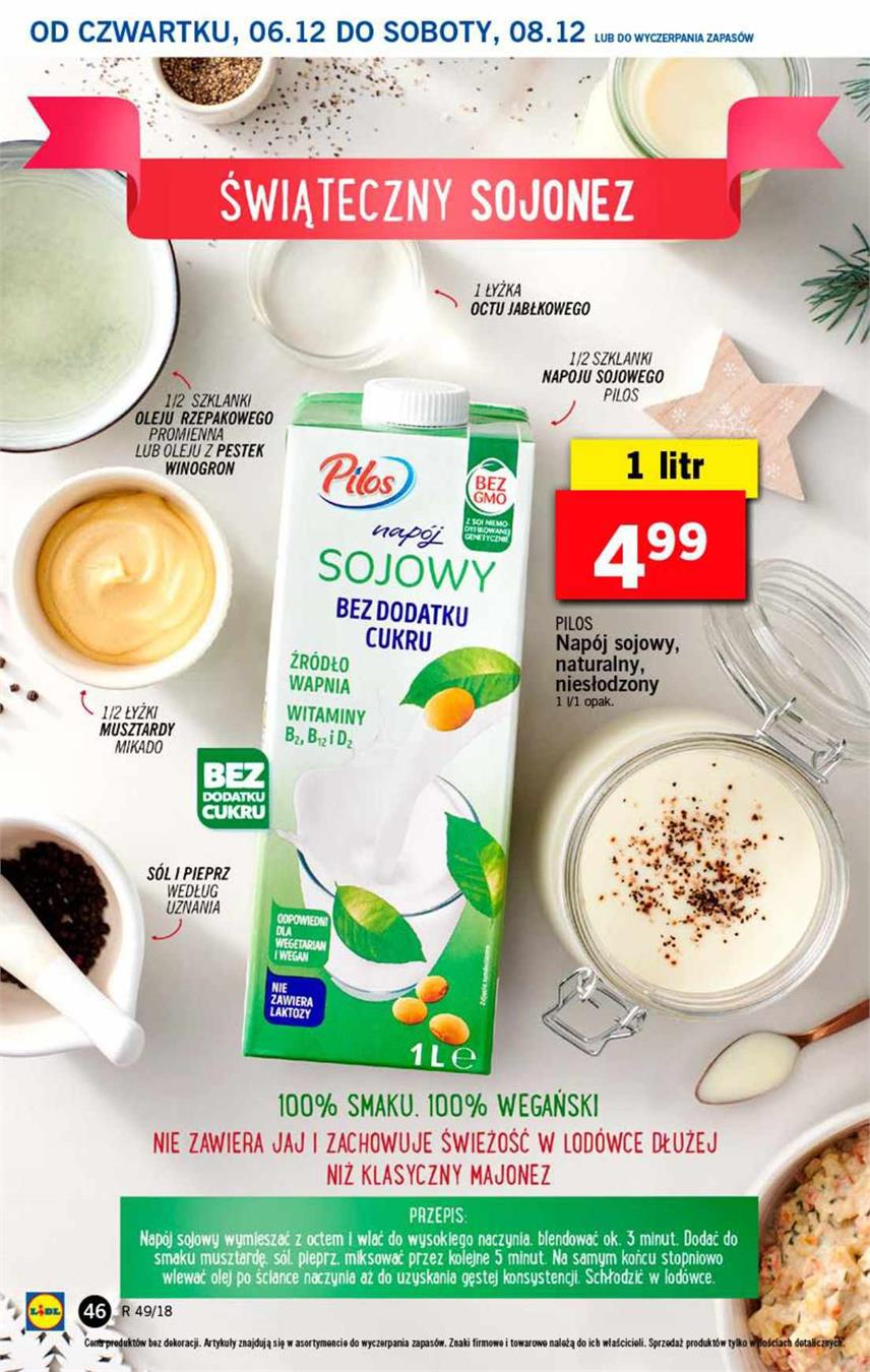 Gazetka Lidl Polska Sp. z o.o. nr 46 od 2018-12-06 do 2018-12-08