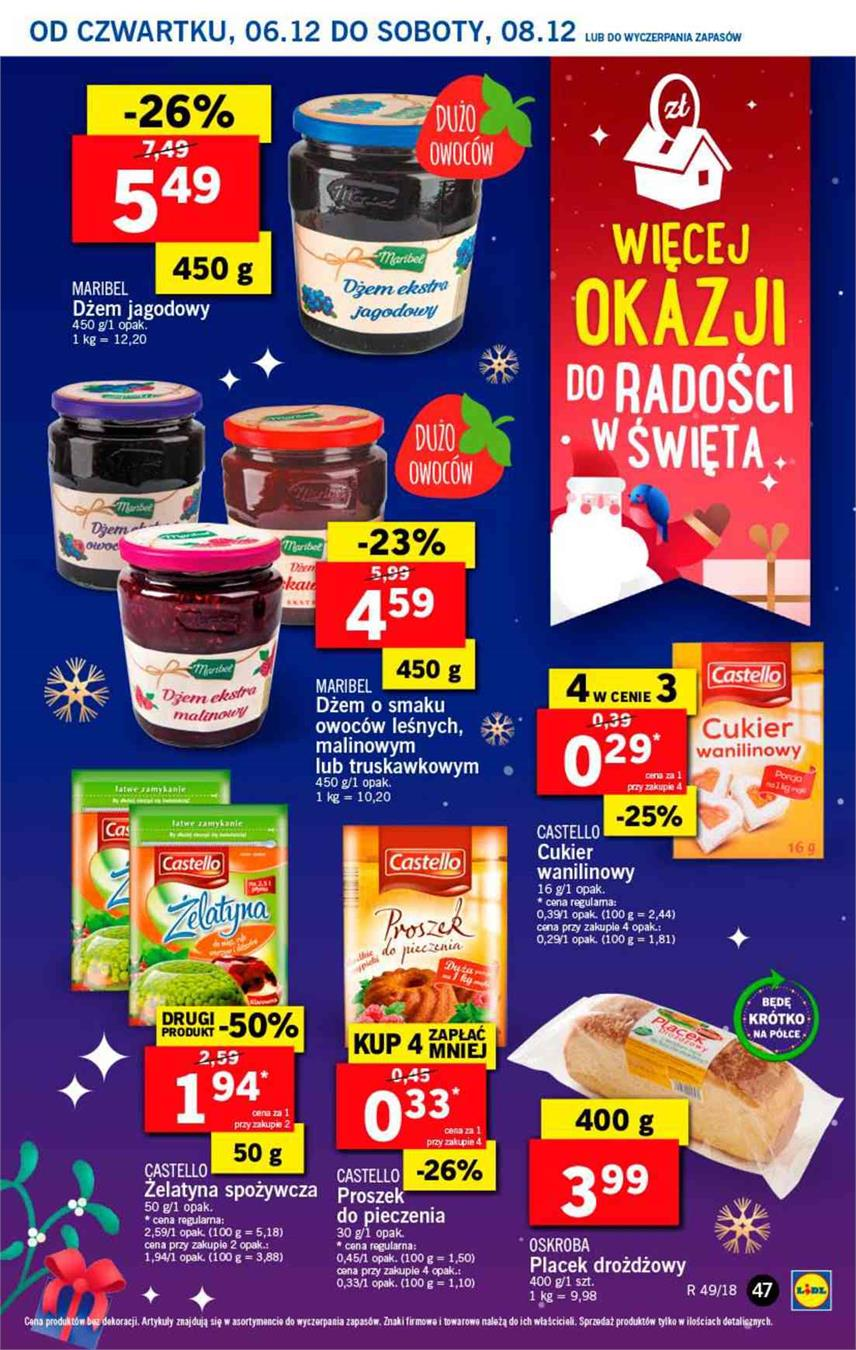 Gazetka Lidl Polska Sp. z o.o. nr 47 od 2018-12-06 do 2018-12-08