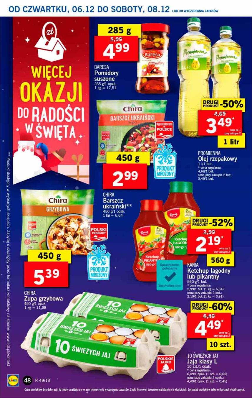 Gazetka Lidl Polska Sp. z o.o. nr 48 od 2018-12-06 do 2018-12-08