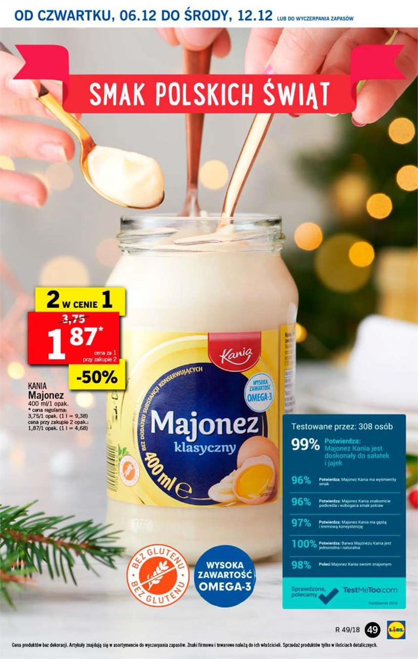 Gazetka Lidl Polska Sp. z o.o. nr 49 od 2018-12-06 do 2018-12-08