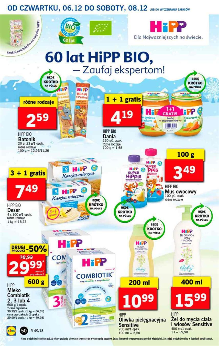 Gazetka Lidl Polska Sp. z o.o. nr 50 od 2018-12-06 do 2018-12-08