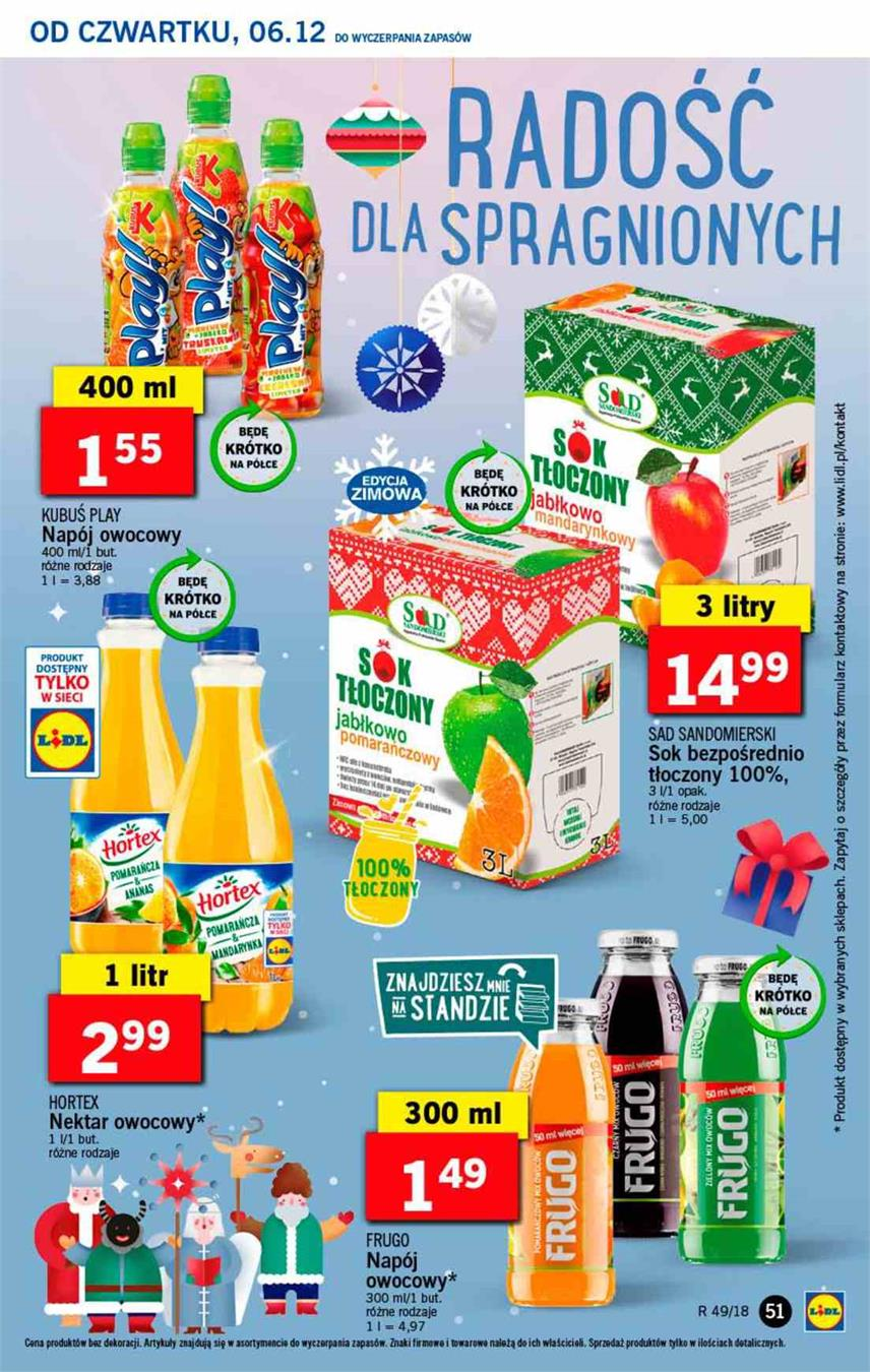 Gazetka Lidl Polska Sp. z o.o. nr 51 od 2018-12-06 do 2018-12-08