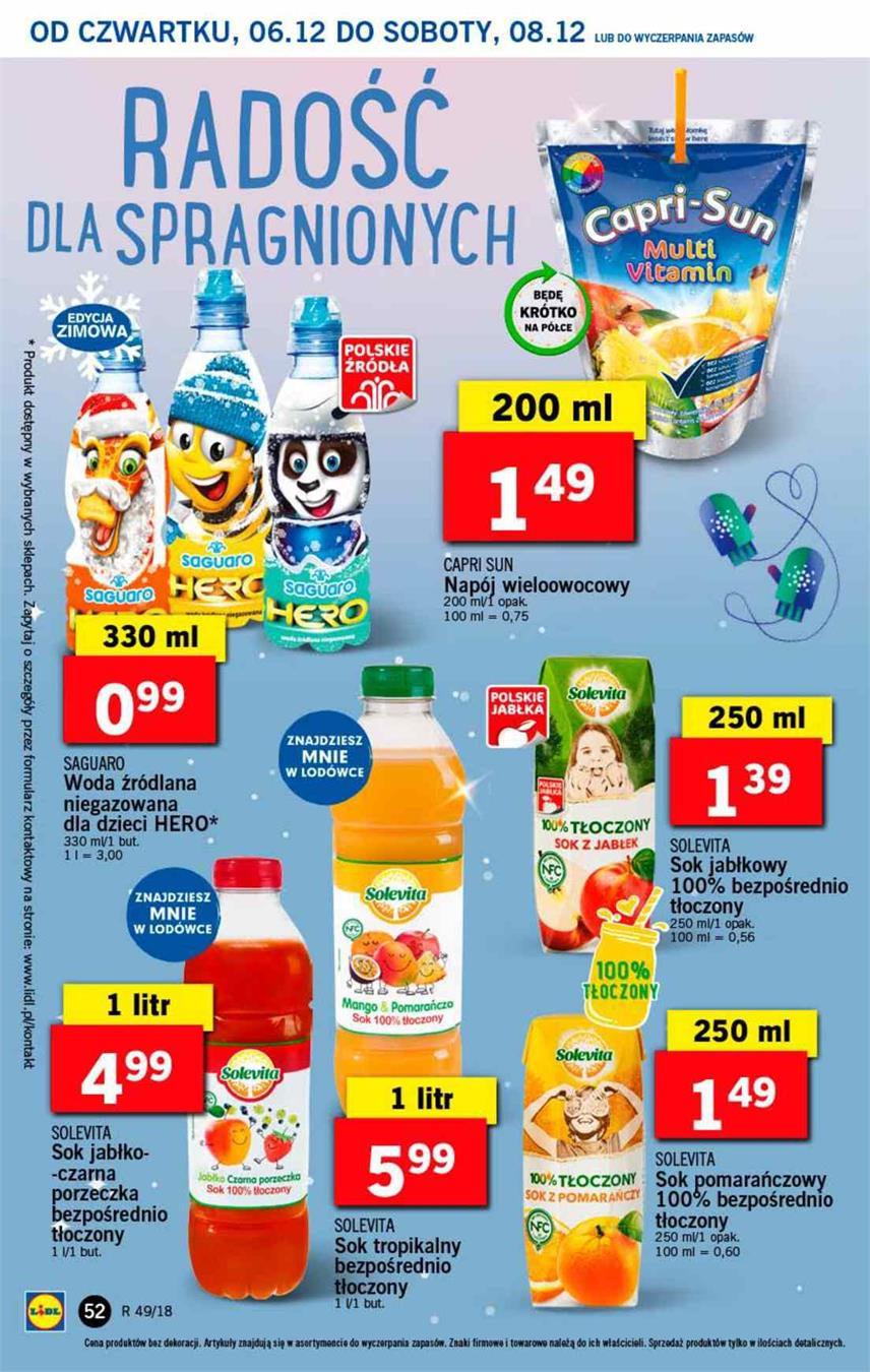 Gazetka Lidl Polska Sp. z o.o. nr 52 od 2018-12-06 do 2018-12-08