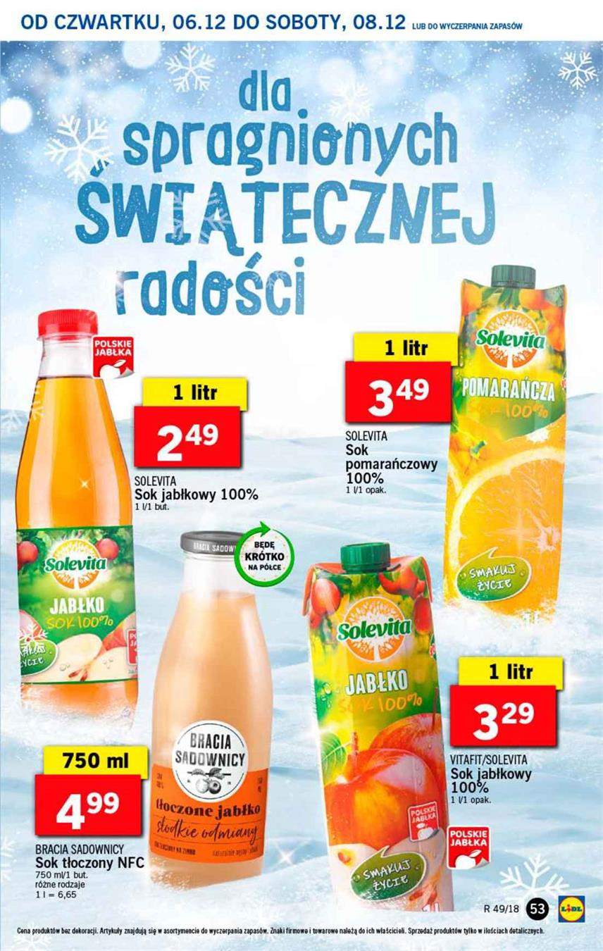 Gazetka Lidl Polska Sp. z o.o. nr 53 od 2018-12-06 do 2018-12-08