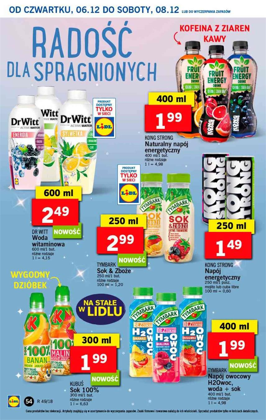 Gazetka Lidl Polska Sp. z o.o. nr 54 od 2018-12-06 do 2018-12-08