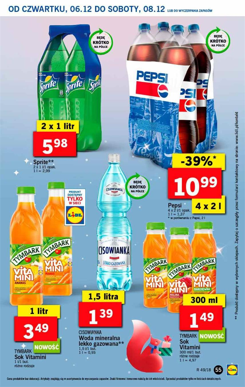 Gazetka Lidl Polska Sp. z o.o. nr 55 od 2018-12-06 do 2018-12-08