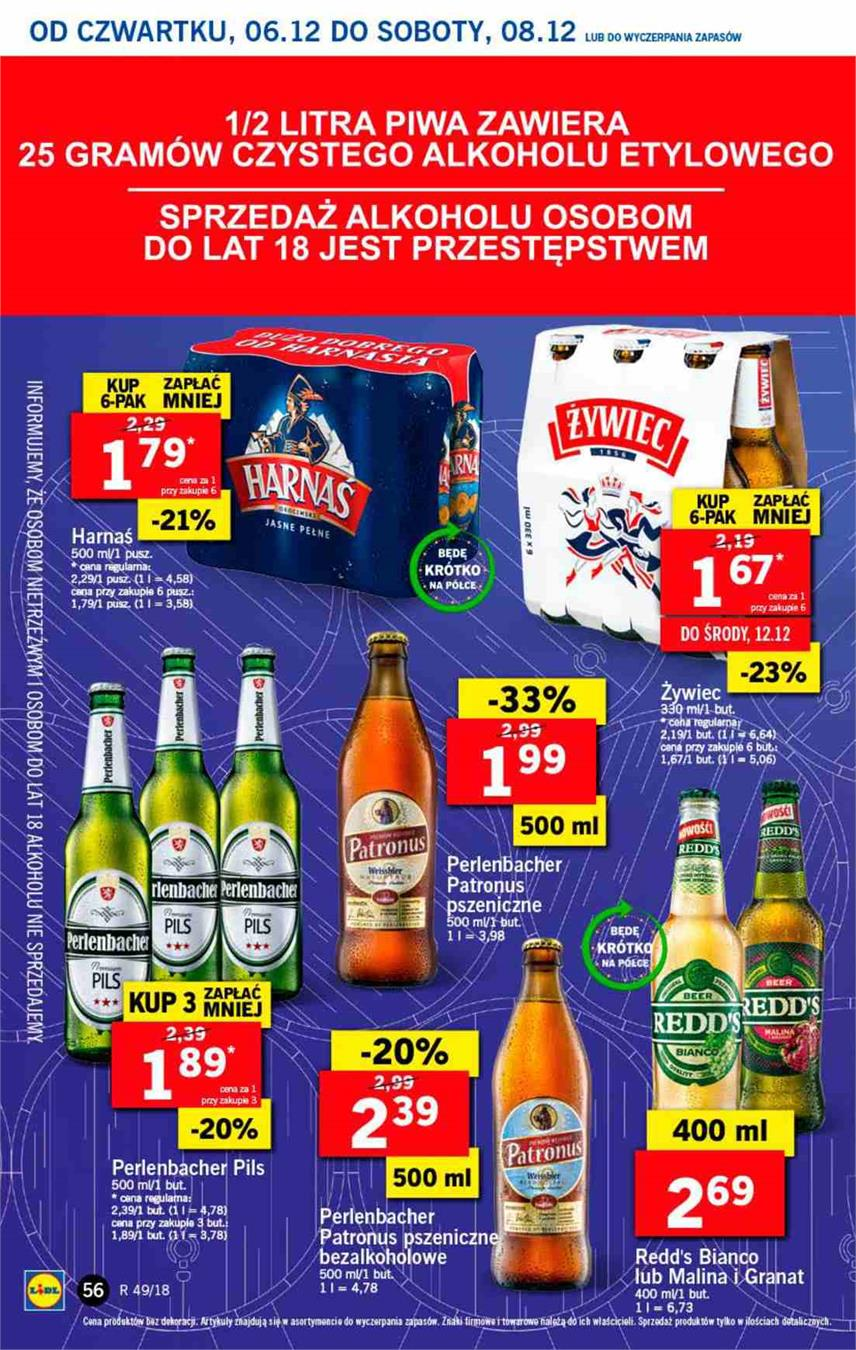 Gazetka Lidl Polska Sp. z o.o. nr 56 od 2018-12-06 do 2018-12-08