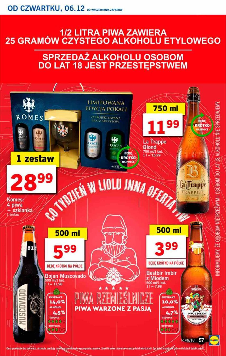 Gazetka Lidl Polska Sp. z o.o. nr 57 od 2018-12-06 do 2018-12-08