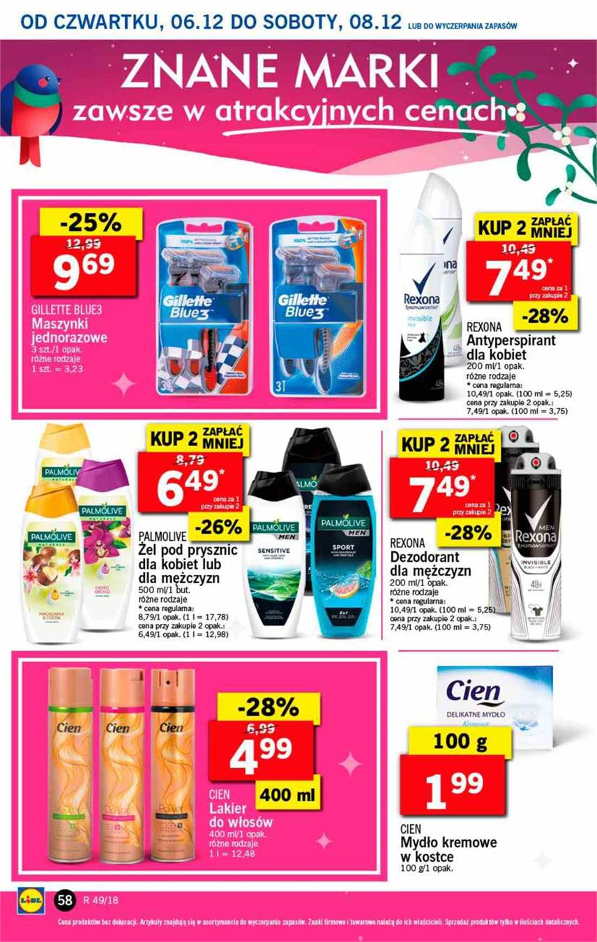 Gazetka Lidl Polska Sp. z o.o. nr 58 od 2018-12-06 do 2018-12-08