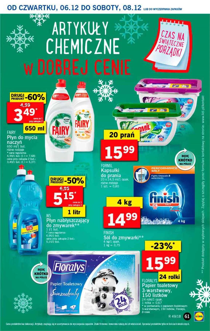Gazetka Lidl Polska Sp. z o.o. nr 61 od 2018-12-06 do 2018-12-08