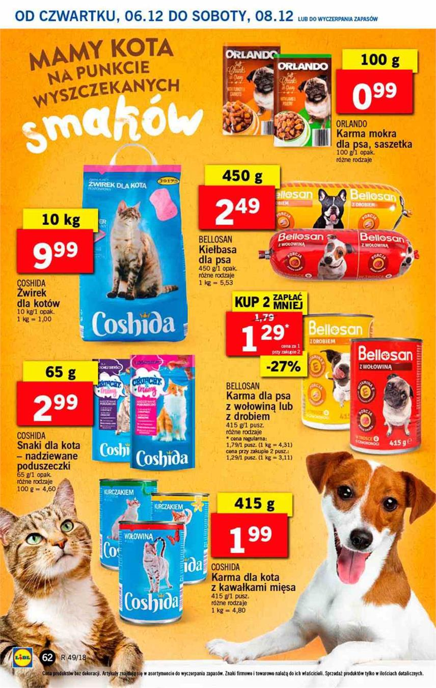 Gazetka Lidl Polska Sp. z o.o. nr 62 od 2018-12-06 do 2018-12-08