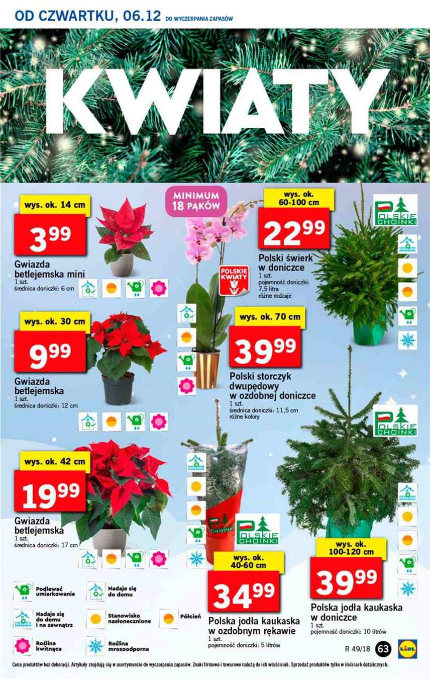 Gazetka Lidl Polska Sp. z o.o. nr 63 od 2018-12-06 do 2018-12-08