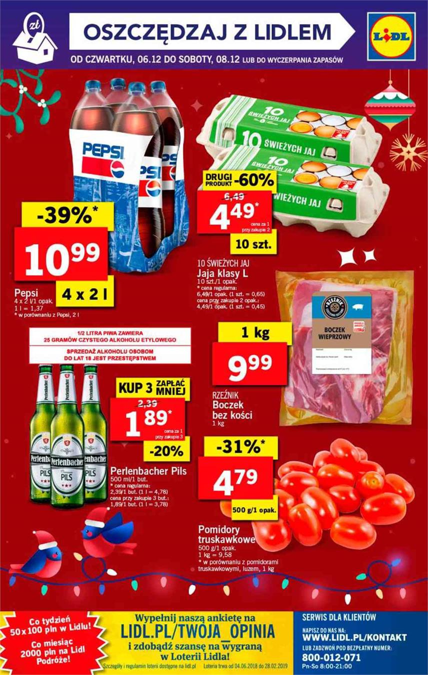 Gazetka Lidl Polska Sp. z o.o. nr 64 od 2018-12-06 do 2018-12-08