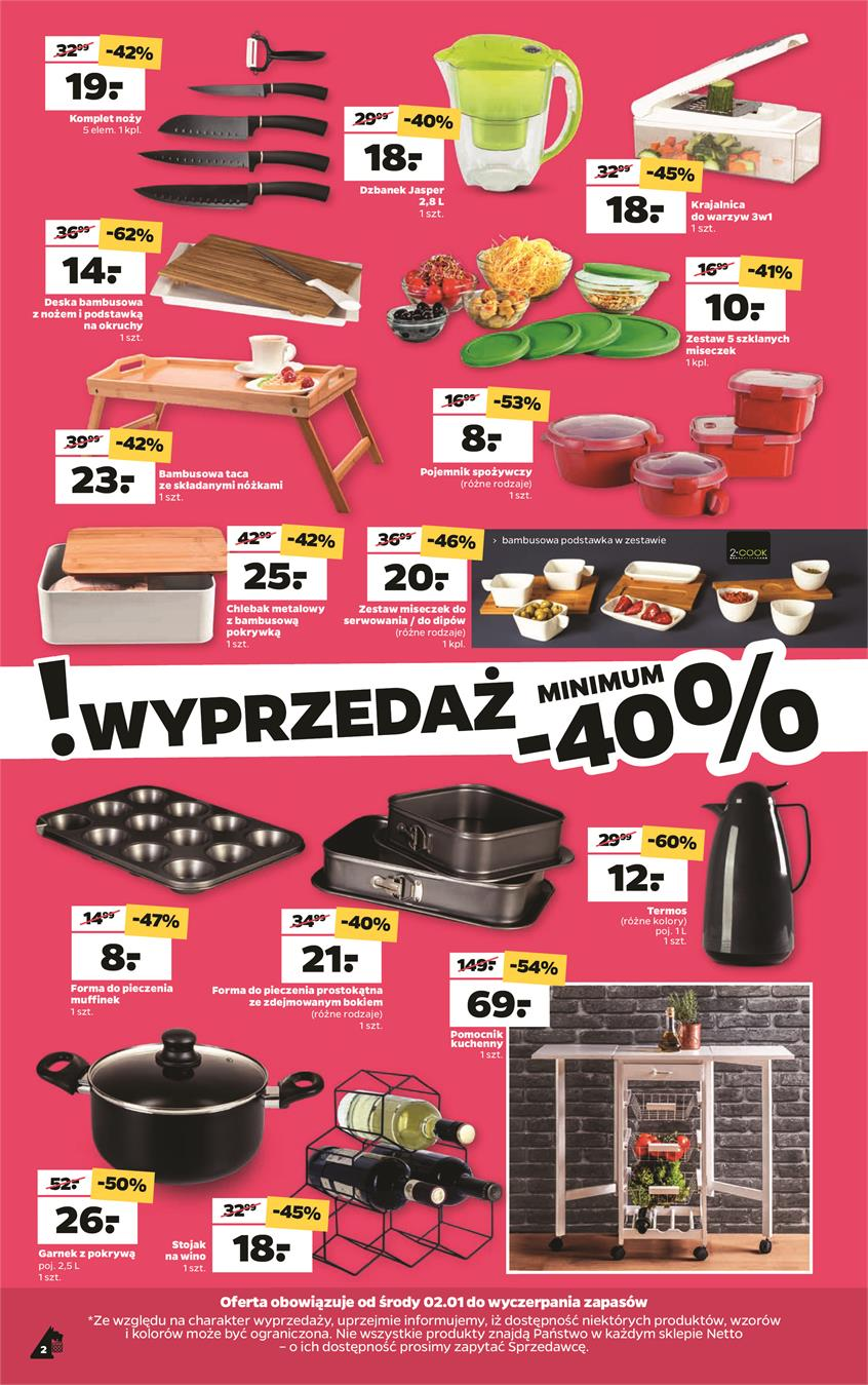 Gazetka Netto Sp. z o.o. nr 2 od 2019-01-02 do 2019-01-05