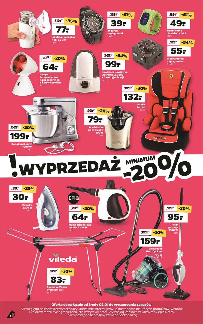 Gazetka Netto Sp. z o.o. nr 4 od 2019-01-02 do 2019-01-05