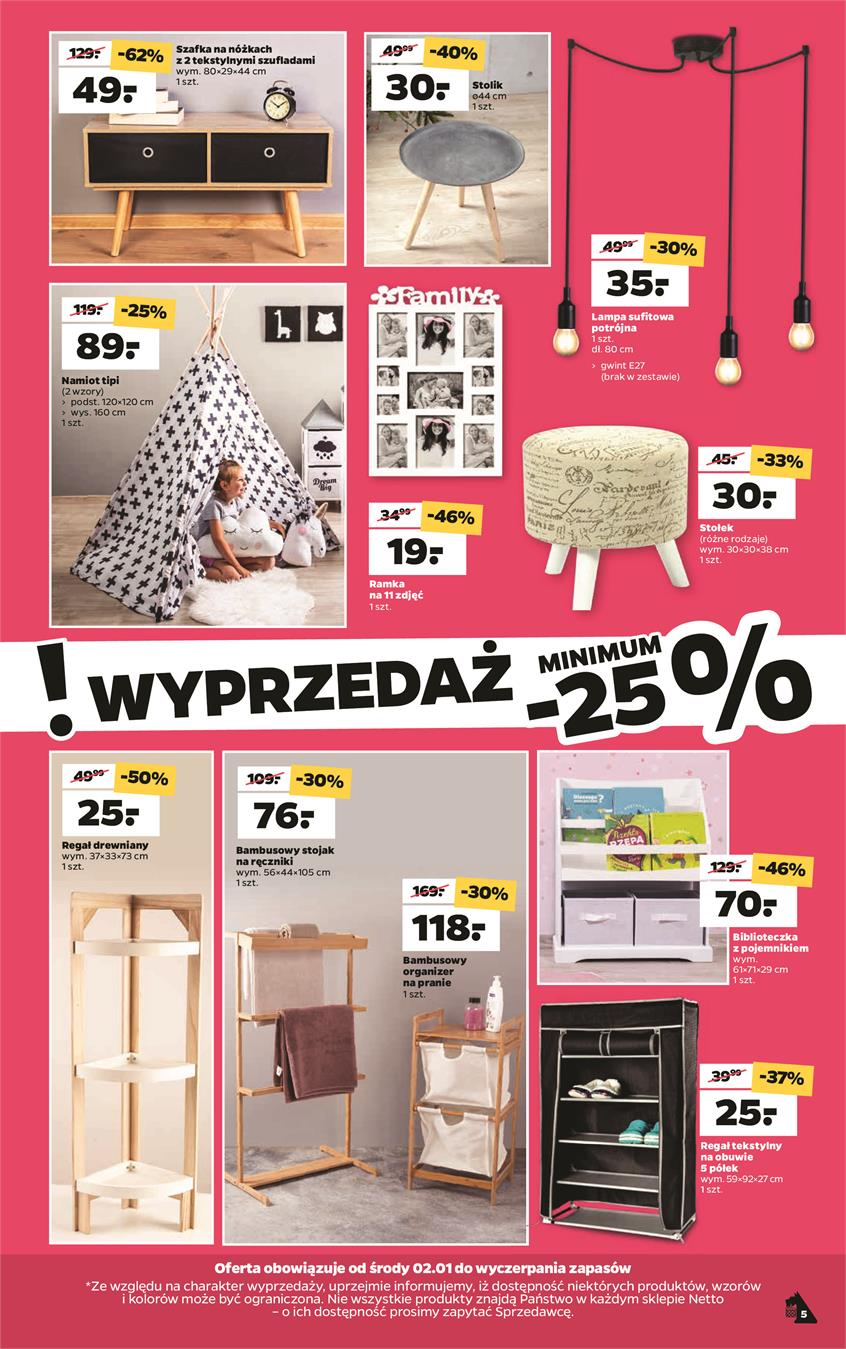 Gazetka Netto Sp. z o.o. nr 5 od 2019-01-02 do 2019-01-05