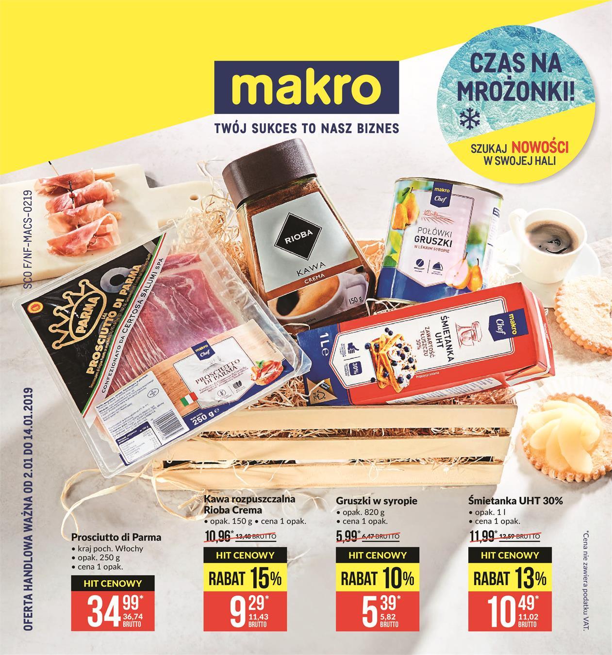 dad881a920188 Gazetka promocyjna Oferta spożywcza ważna od 02-01-2019 do 14-01-2019
