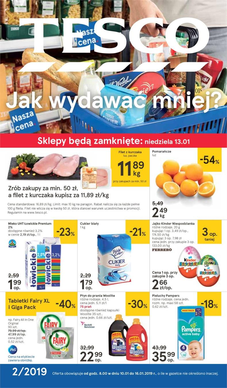 Gazetka Tesco Polska Sp. z o.o. nr 1 od 2019-01-10 do 2019-01-16