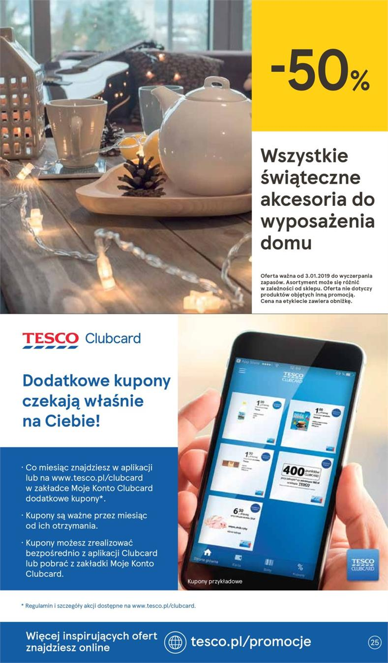 Gazetka Tesco Polska Sp. z o.o. nr 25 od 2019-01-10 do 2019-01-16