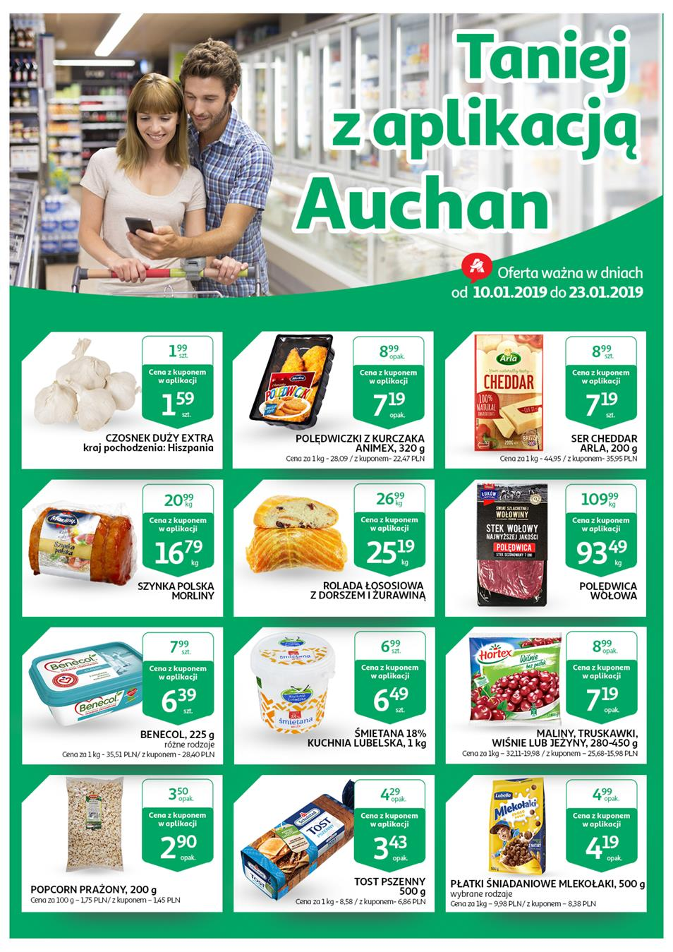 Gazetka Auchan Polska Sp. z o.o. nr 1 od 2019-01-10 do 2019-01-23