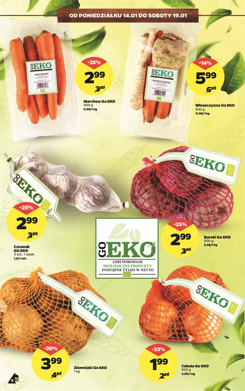 Gazetka Netto Sp. z o.o. nr 6 od 2019-01-14 do 2019-01-20