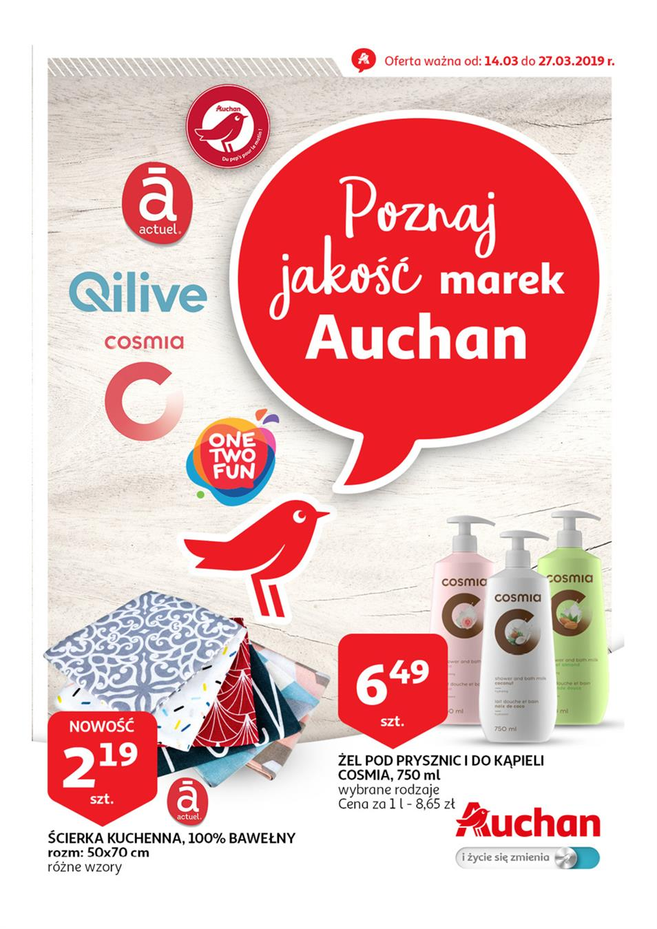 Gazetka Auchan Polska Sp. z o.o. nr 1 od 2019-03-14 do 2019-03-27