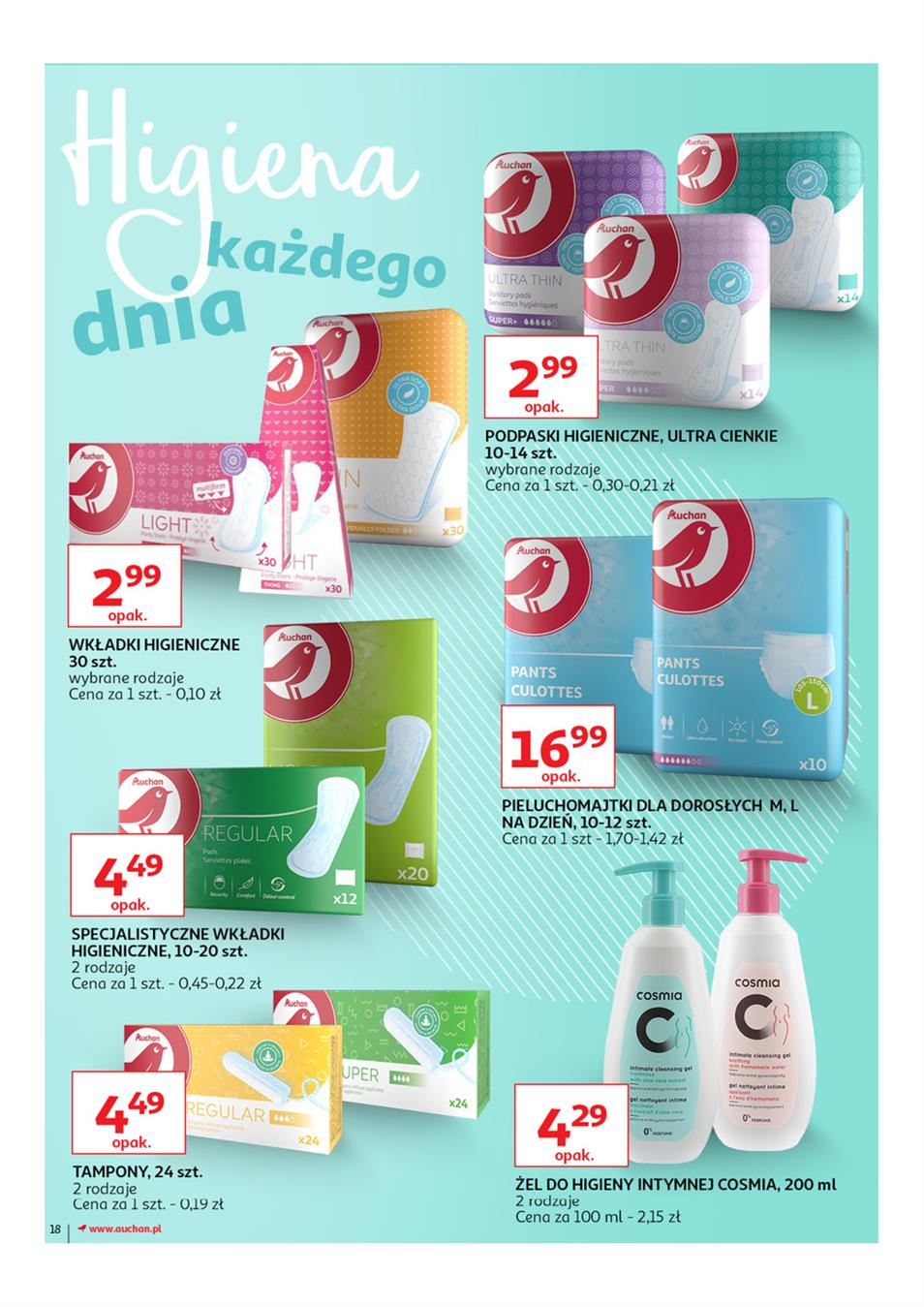 Gazetka Auchan Polska Sp. z o.o. nr 18 od 2019-03-14 do 2019-03-27
