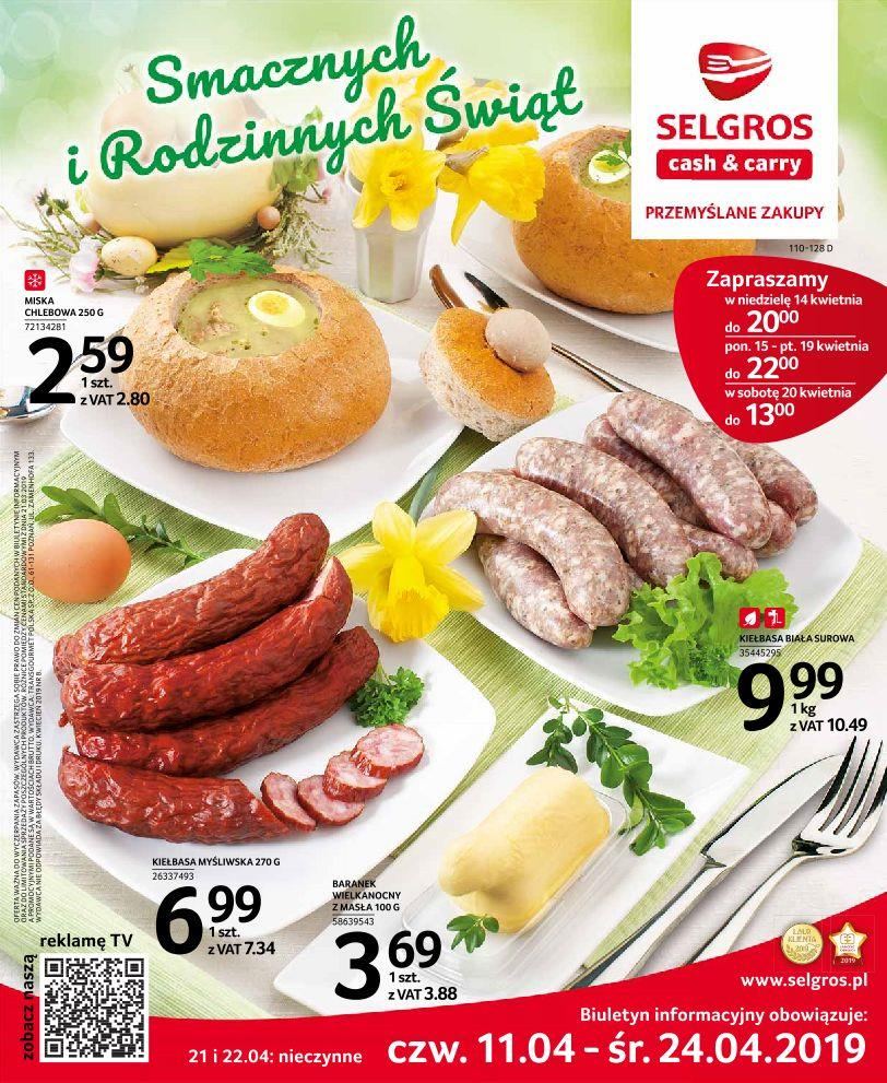 Gazetka Selgros Sp. z o.o. nr 1 od 2019-04-11 do 2019-04-24