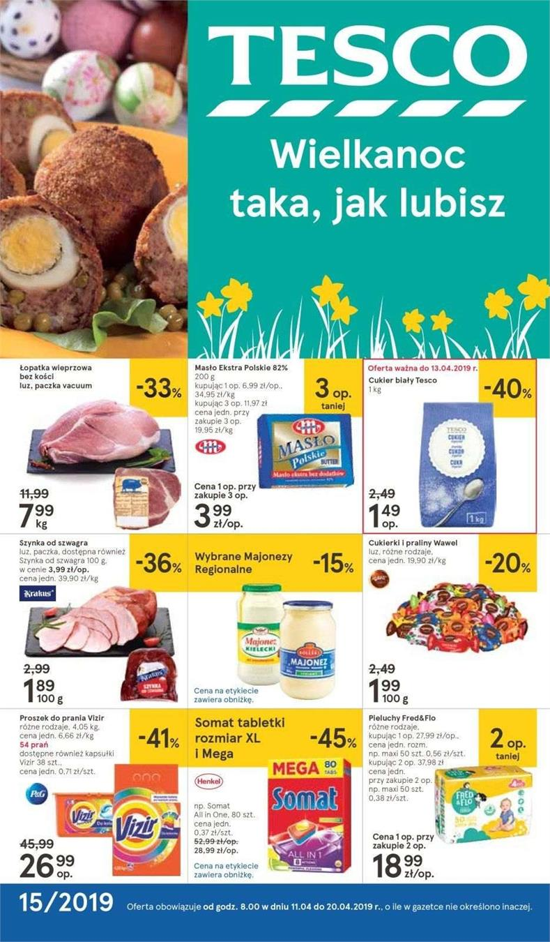 Gazetka Tesco Polska Sp. z o.o. nr 1 od 2019-04-11 do 2019-04-20