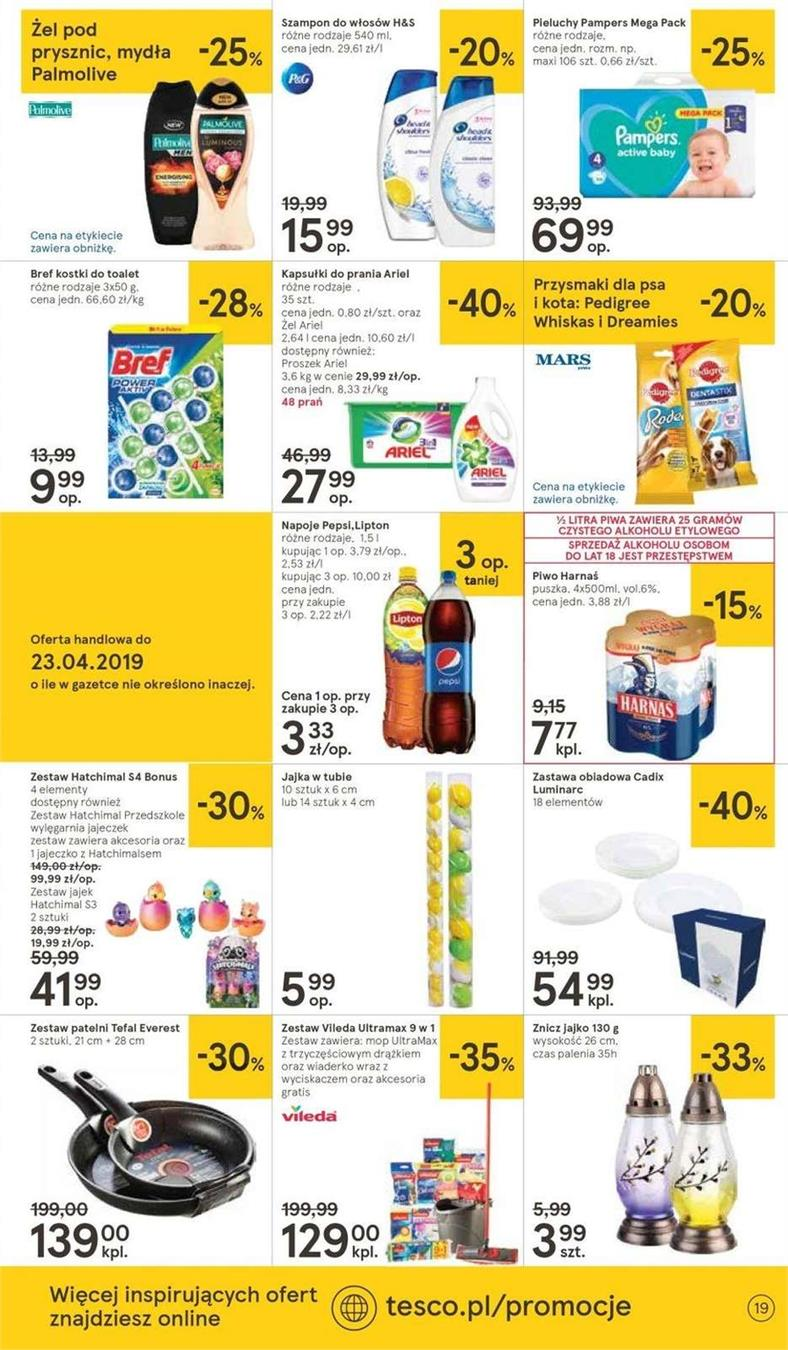 Gazetka Tesco Polska Sp. z o.o. nr 11 od 2019-04-11 do 2019-04-20