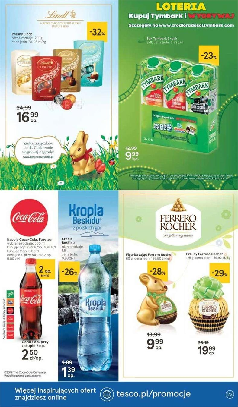 Gazetka Tesco Polska Sp. z o.o. nr 16 od 2019-04-11 do 2019-04-20