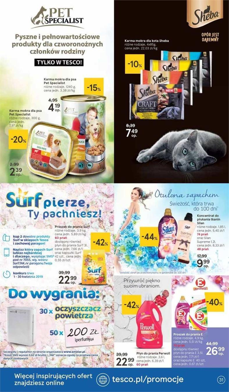 Gazetka Tesco Polska Sp. z o.o. nr 25 od 2019-04-11 do 2019-04-20