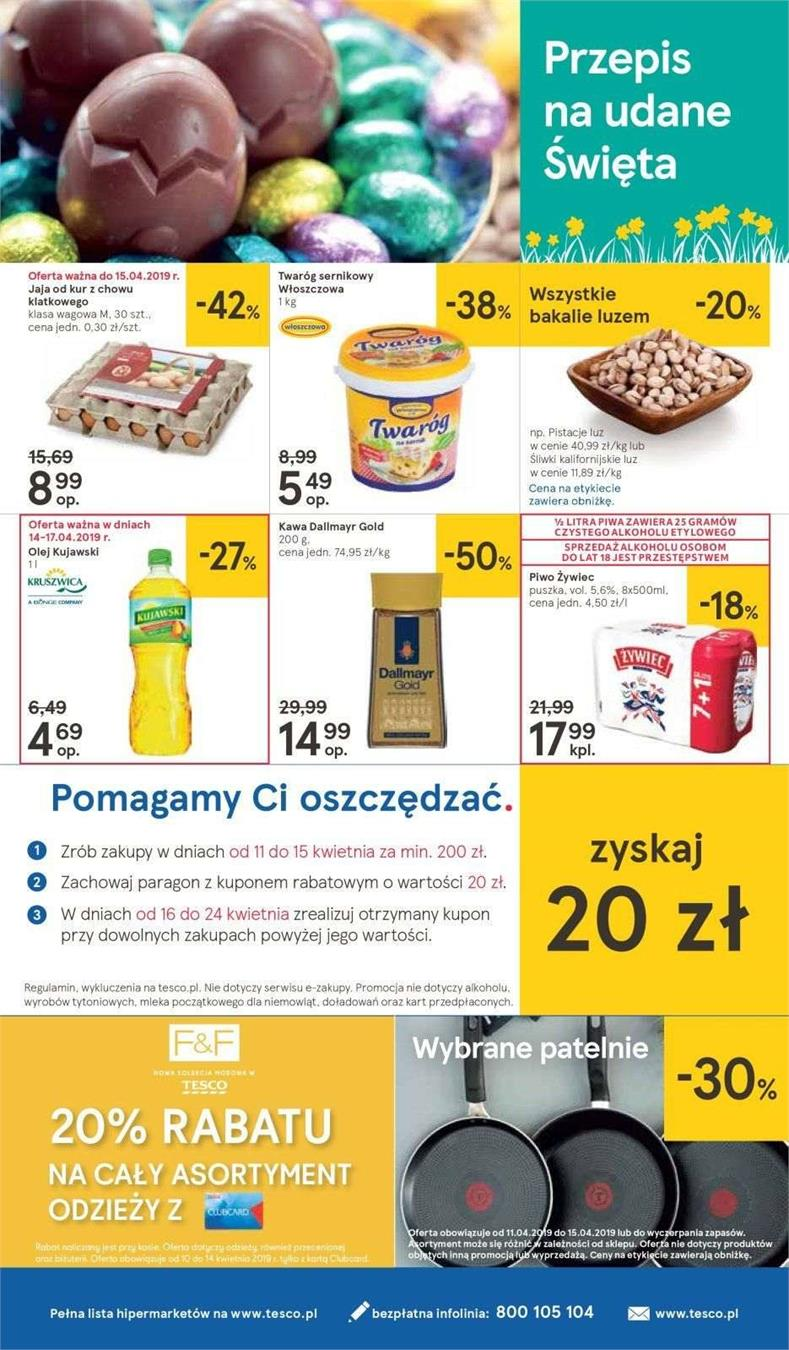 Gazetka Tesco Polska Sp. z o.o. nr 30 od 2019-04-11 do 2019-04-20