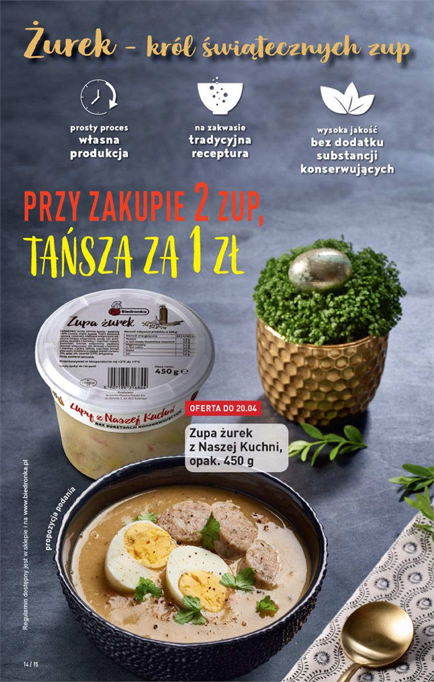 Gazetka Jeronimo Martins Polska SA nr 14 od 2019-04-18 do 2019-04-24