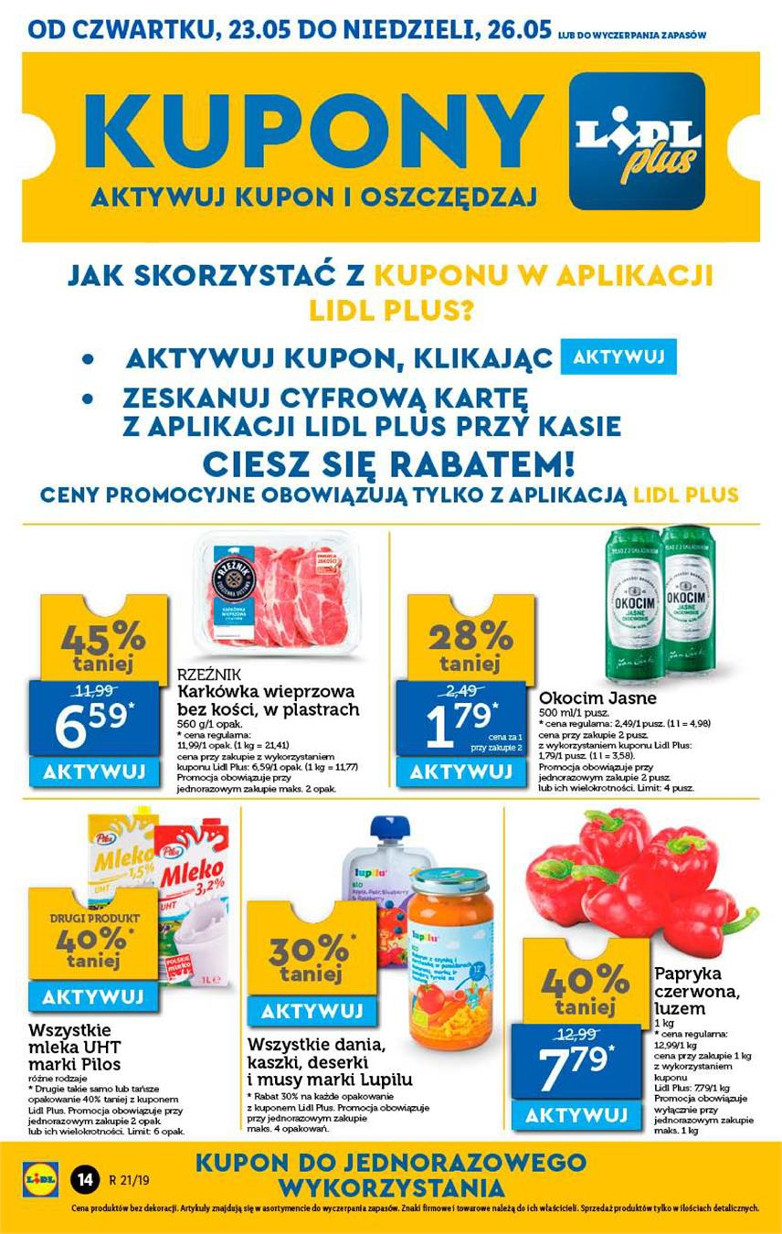 Gazetka Lidl Polska Sp. z o.o. nr 14 od 2019-05-23 do 2019-05-26