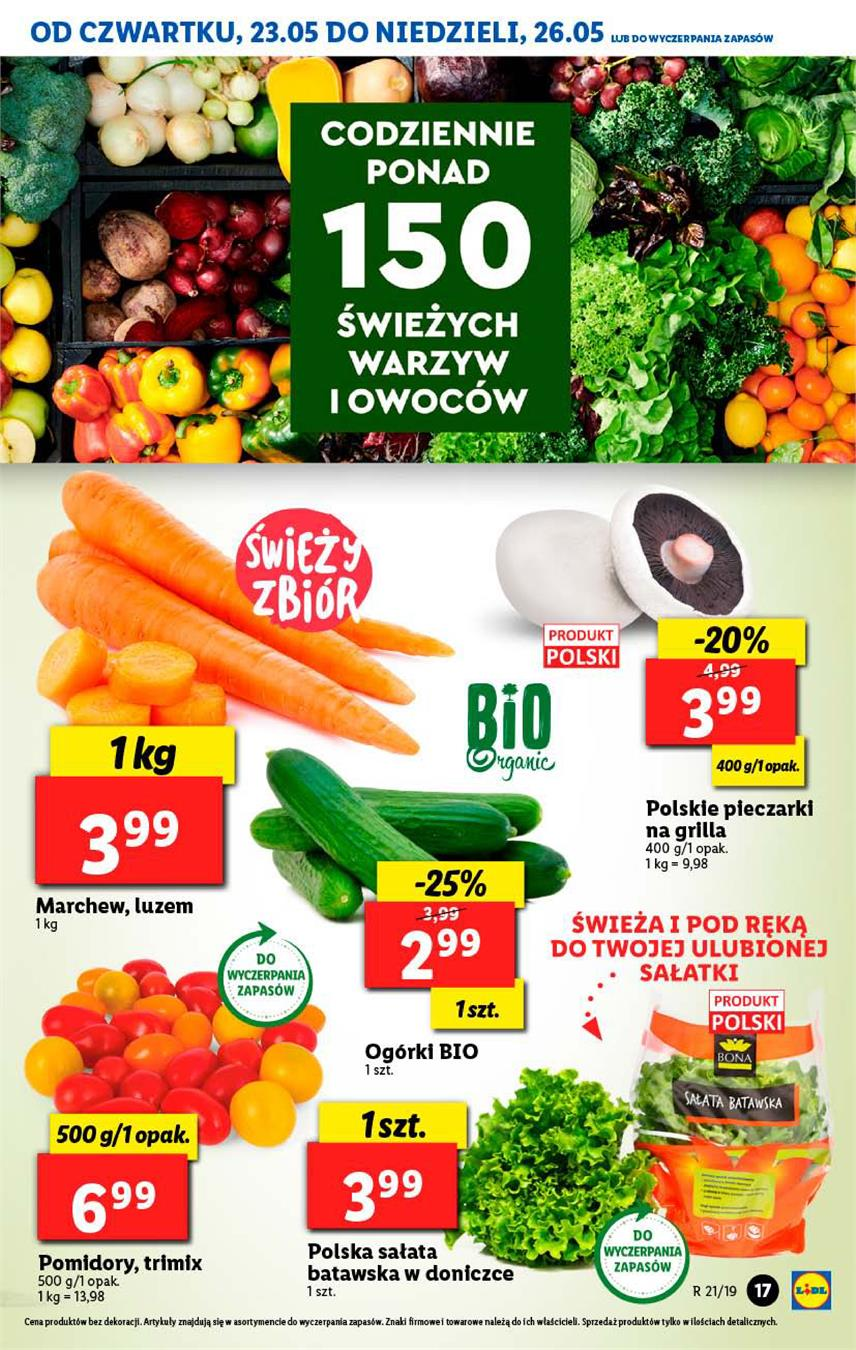 Gazetka Lidl Polska Sp. z o.o. nr 17 od 2019-05-23 do 2019-05-26