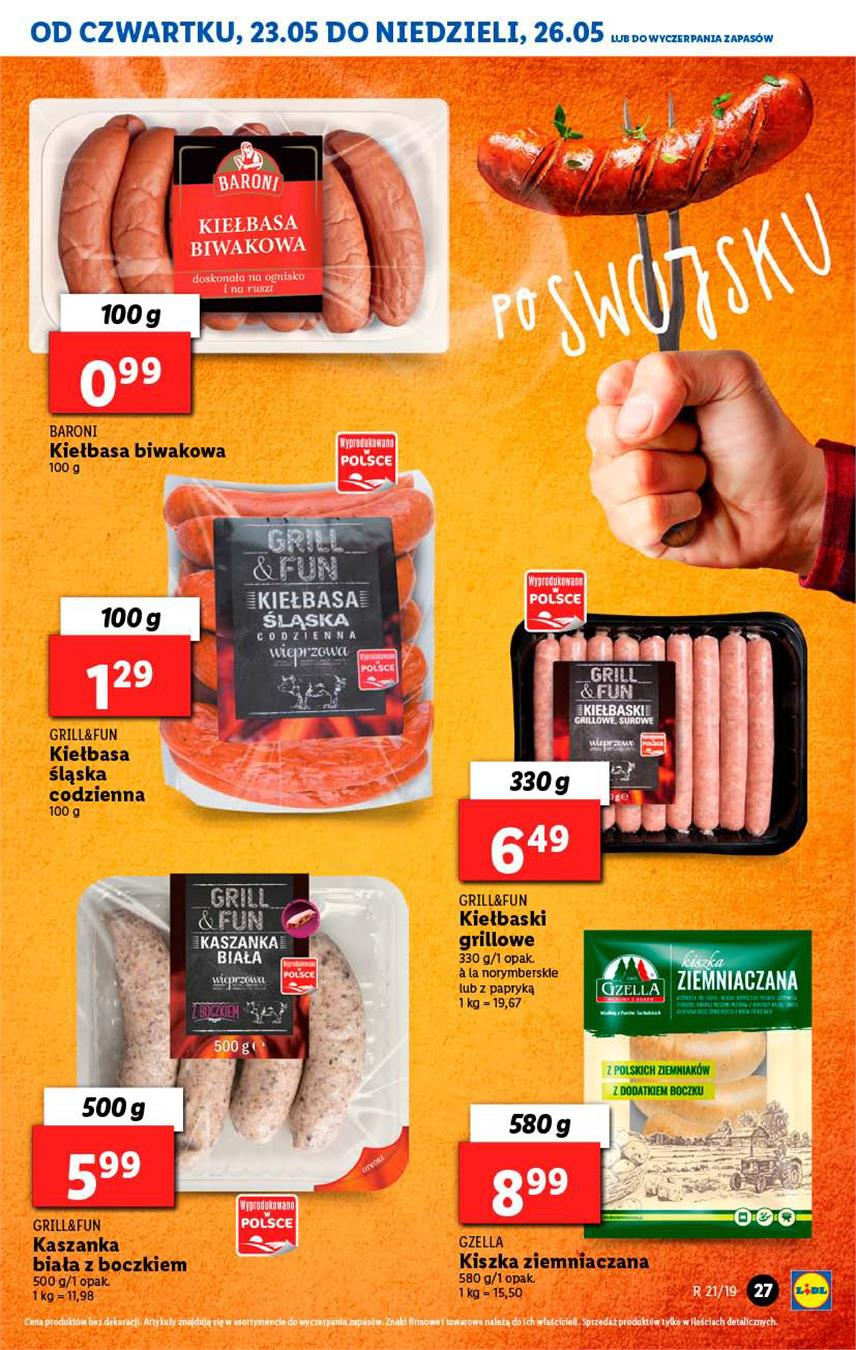 Gazetka Lidl Polska Sp. z o.o. nr 27 od 2019-05-23 do 2019-05-26