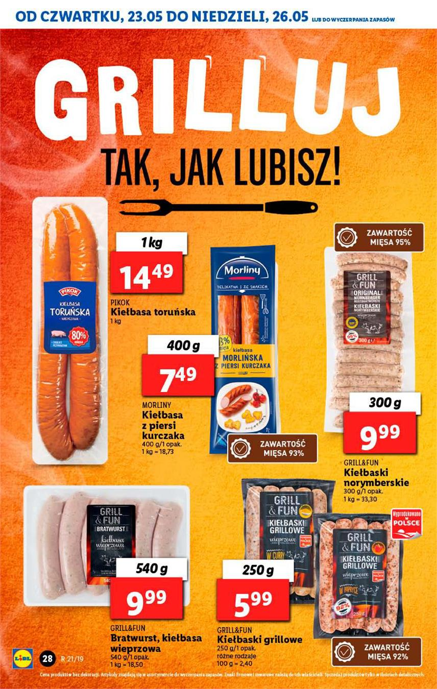 Gazetka Lidl Polska Sp. z o.o. nr 28 od 2019-05-23 do 2019-05-26
