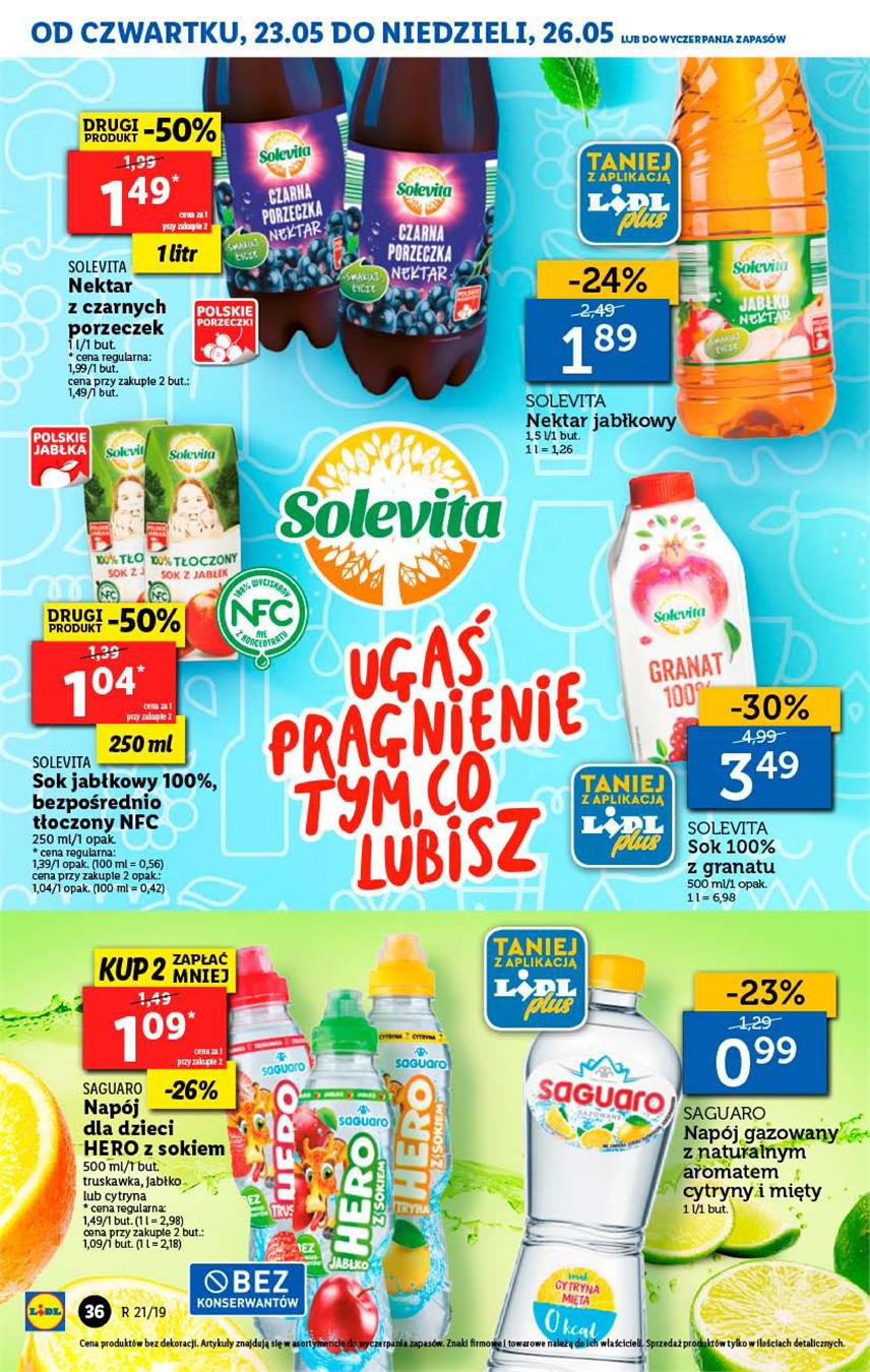 Gazetka Lidl Polska Sp. z o.o. nr 36 od 2019-05-23 do 2019-05-26