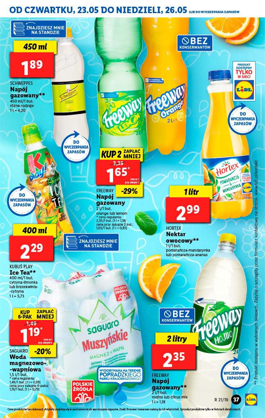 Gazetka Lidl Polska Sp. z o.o. nr 37 od 2019-05-23 do 2019-05-26
